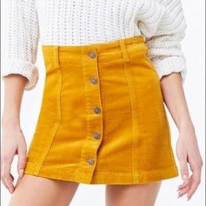 NWT mustard skirt!